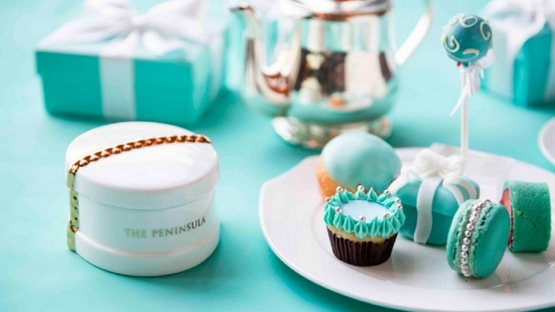 tiffany afternoon tea - the peninsula bangkok thailand