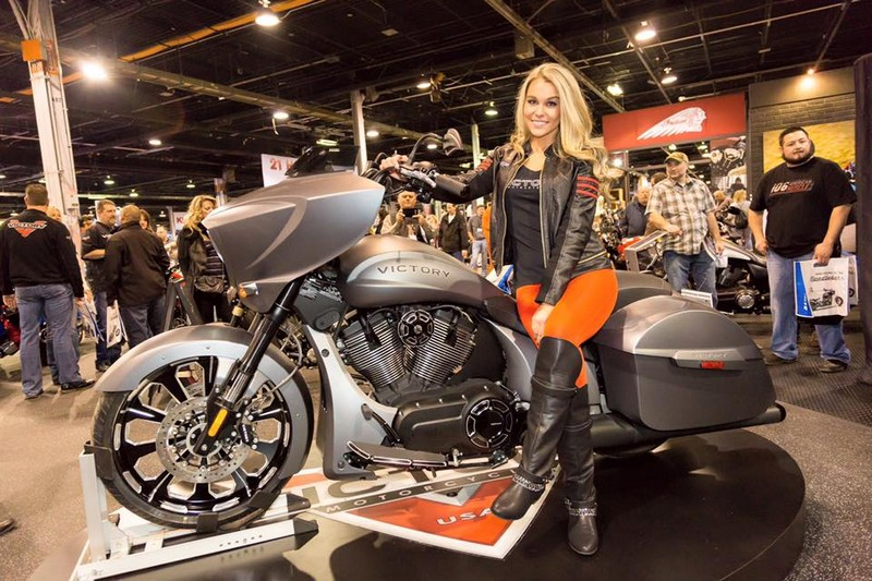 victory motorcycles - Magnum X-1 Stealth Edition launch IMS Chicago