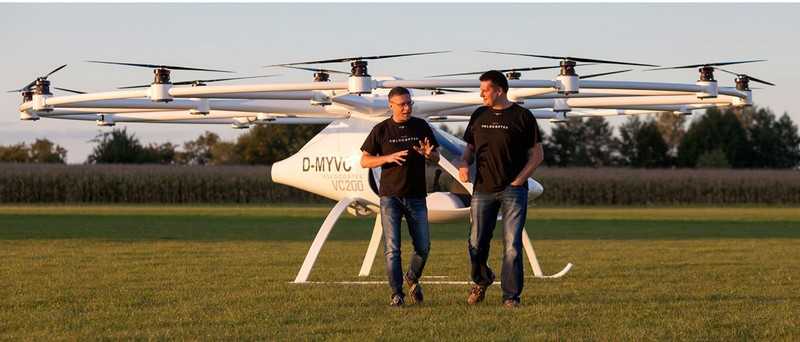 volocopter 2016 on the ground