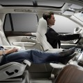 volvo lounge console-The removal of the front passenger seat allows for full forward vision creating a uniquely spacious environment.