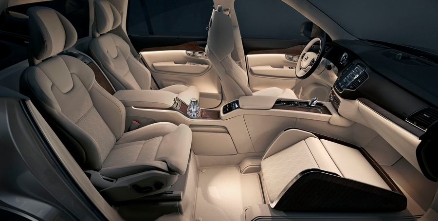 volvo lounge console-a calming and luxurious experience.