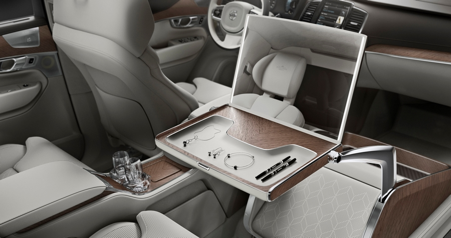 volvo lounge console - a storage tray for jewelry and personal accessories or make-up.