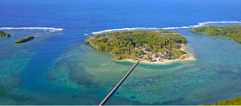 wavi island fiji aerialview