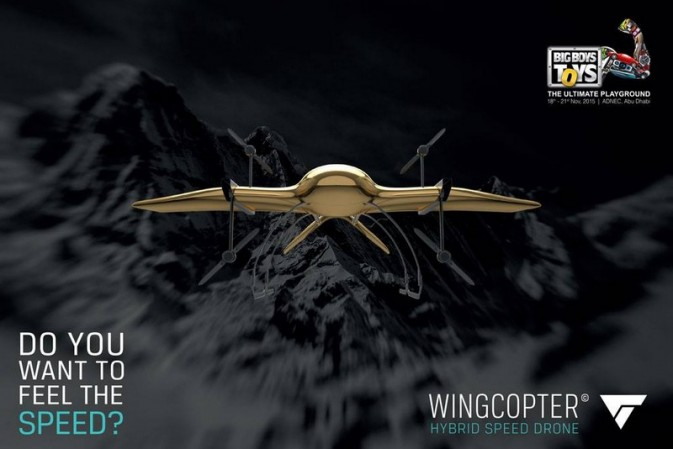 The Wingcopter high speed hybrid drone