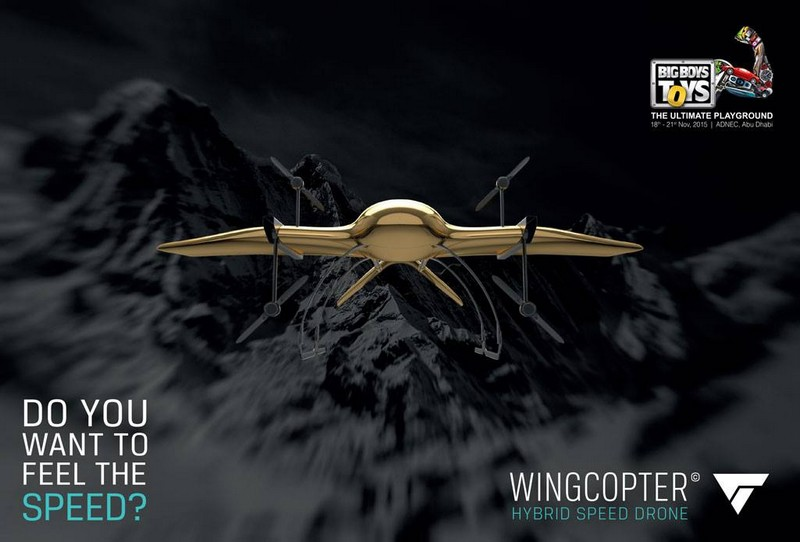 wingcopter high speed hybrid drone-