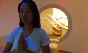 yoga studio in SkyTeam's Exclusive Lounge at London Heathrow