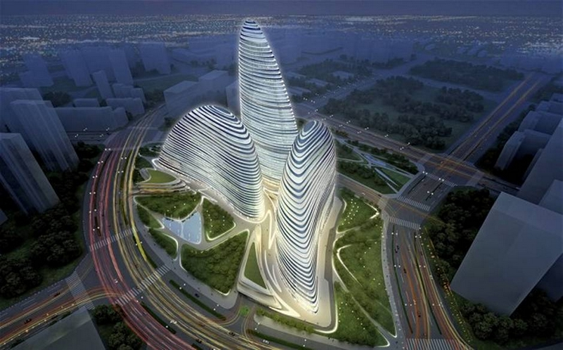 zaha hadid wanjing Soho building