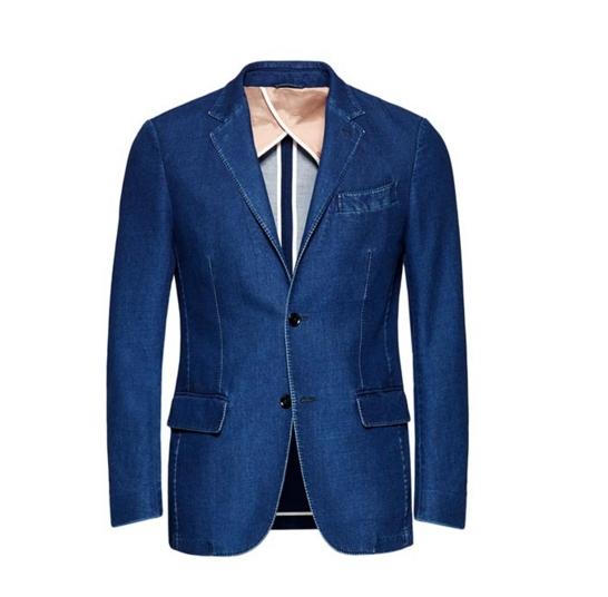 zegna luxury denim-blazer