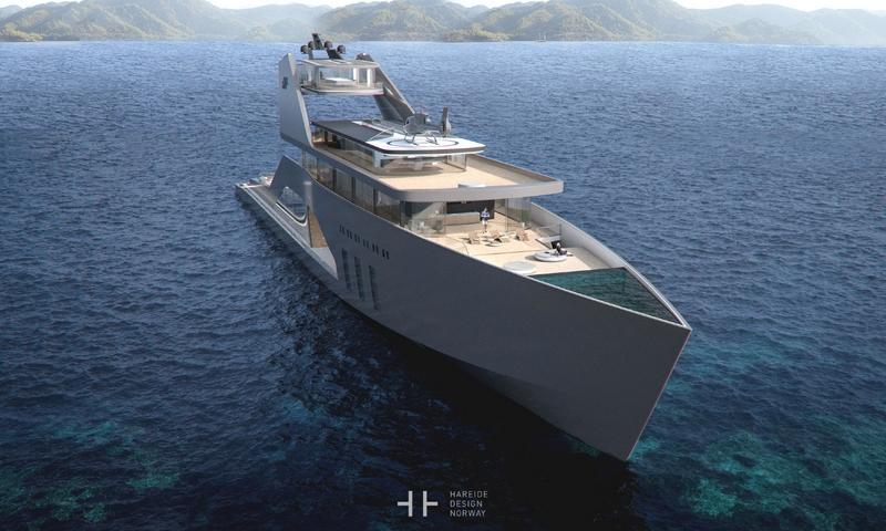 108M mega yacht Hareide Design 2016