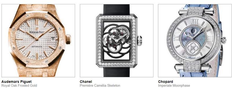 17th edition of the Grand Prix d'Horlogerie de Genève - The pre-selected watches - ladies 1