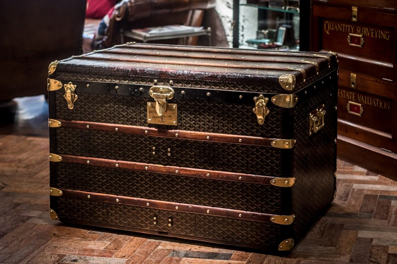 1920 Goyard Steamer Trunk