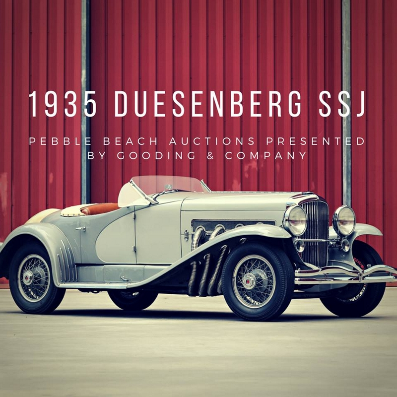 1935 Duesenberg SSJ originally delivered to Hollywood legend Gary Cooper