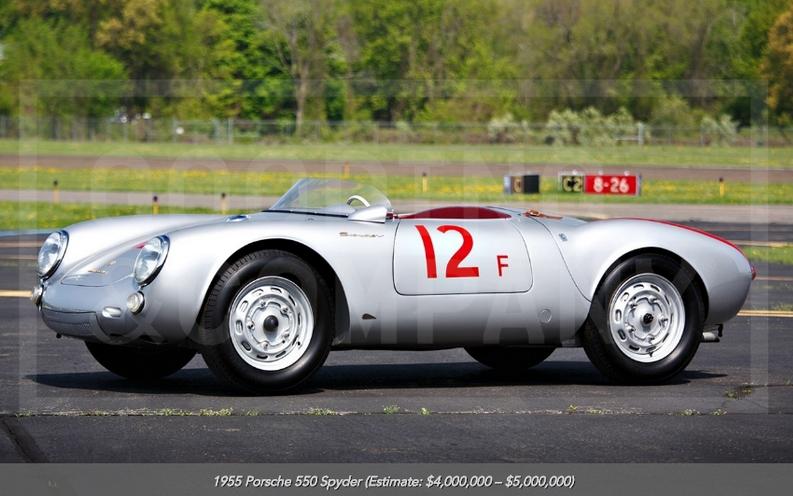 1955 Porsche 550 Spyder at auction