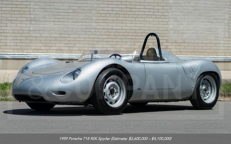 1959 Porsche 718 RSK Spyder at auction
