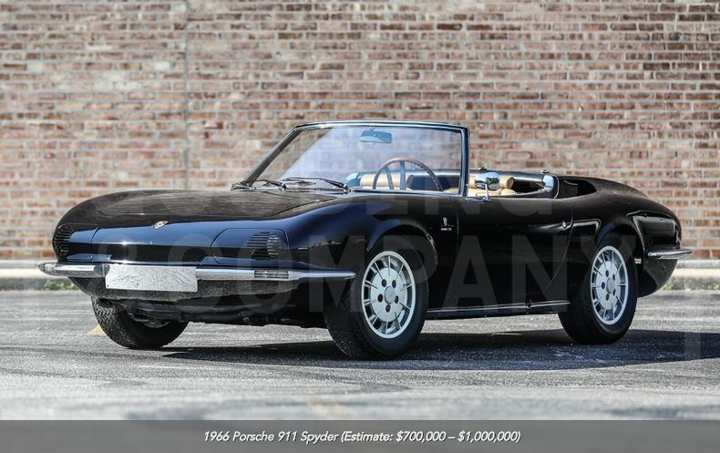1966 Porsche 911 Spyder at auction