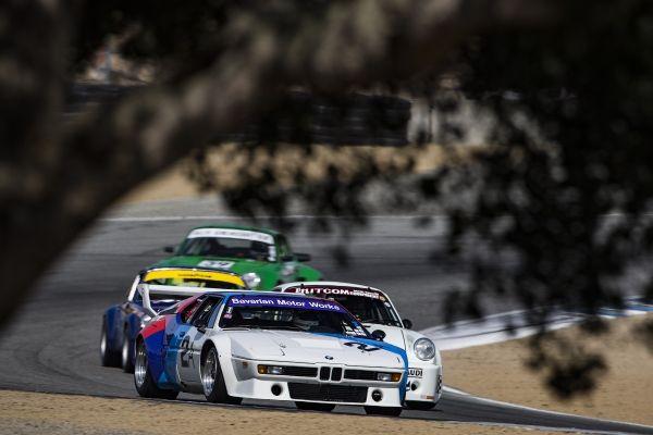 1981 BMW M1 IMSA Group 4 racing at the Rolex Monterey Motorsports Reunion 2017