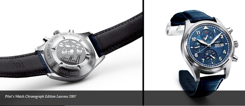 2007 IWC watch for Laureus Sport for Good Foundation competition