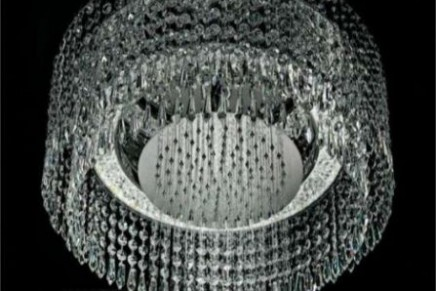 Architectural Chandelier Shower by Marcel Wanders – A shower like a fountain of diamonds