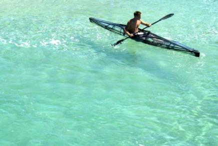 Transparent kayaks. Endorphines guaranteed