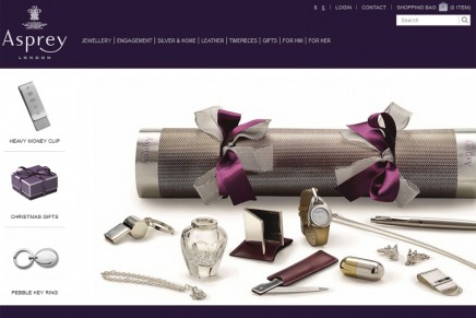 Asprey has launched its first e-commerce site