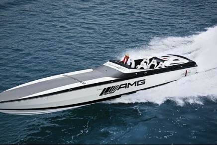 Black Series 50′ Marauder Cigarette boat, inspired by AMG