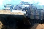 Driving a Leopard 2
