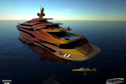 Like a water dragon: Iwana 87m superyacht project