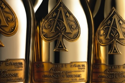 Freshly crowned NFL Super Bowl champions celebrated with one of the largest luxury bottles of Champagne in the world