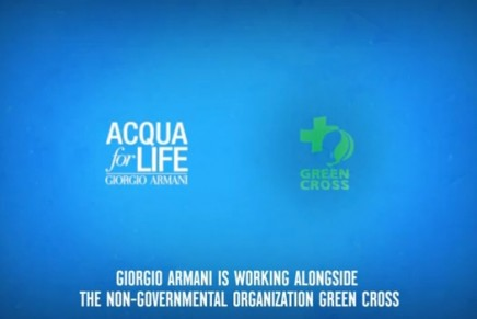 What if water is the most precious gift? Green Cross, Armani water campaign expanding in Africa, Latin America and Asia