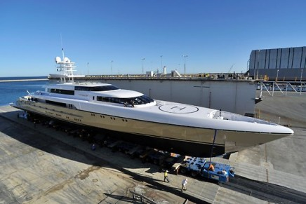 $70 million Smeralda, the world's longest aluminium motor superyacht, launched