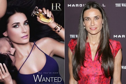 Demi Moore – the victim of overzealous Photoshopping in a Helena Rubinstein ad