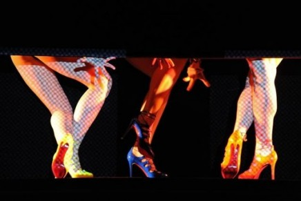 Christian Louboutin's red soles dance at Crazy Horse