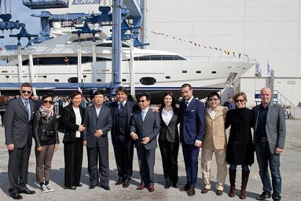 Ferretti landing in China with the latest Custom Line 112 superyacht