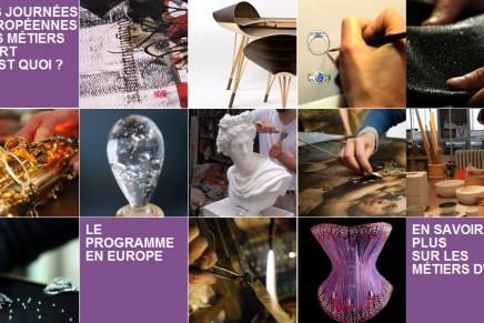 Journées Européennes des Métiers d'Art, France's Festival of Artisans, went Pan-European