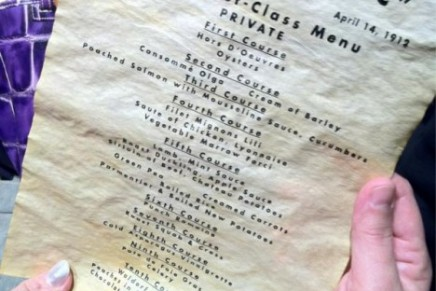 Titanic's last lunch menu sold for 91,000 euros at 100th Anniversary Titanic Auction