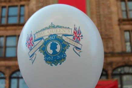 Harrods launched its celebration of the Queen's Diamond Jubilee