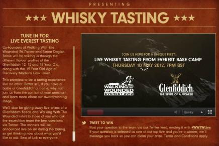 Whisky tasting livestreamed from the world's highest mountain