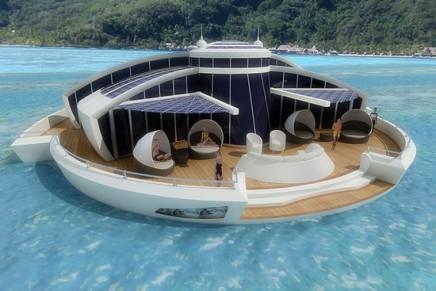 Sustainable solar floating luxury resort setting the good example