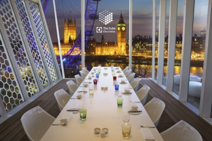 The Cube pop-up restaurant debuts in London