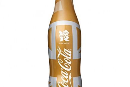 Gold Olympics Coca-Cola bottle
