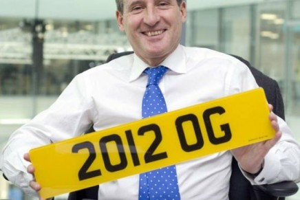 Olympic style number plates sold at the DVLA Auction