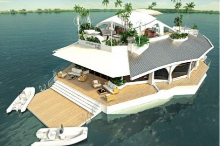 The Orsos man-made, sustainable floating Island