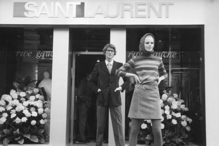 Yves Saint Laurent in a retro branding process