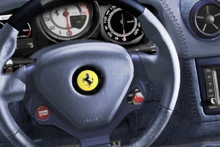 A truly bespoke car: Ferrari California Inedita tailor-made in denim