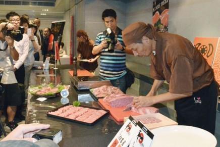 Rarely exported Japanese Kobe beef debuts in Hong Kong