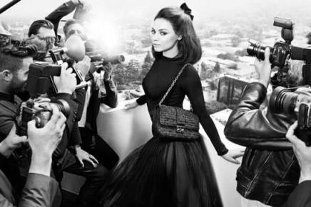 Mila Kunis aka Miss Dior ambassadress faces the paparazzi