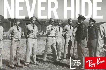 Aviator sunglasses turned 75