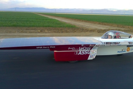 Stanford's Xenith 100% solar powered racecar