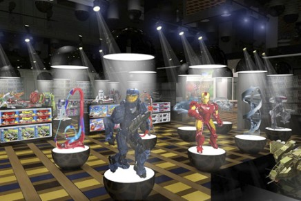 The new toy kingdom: 4D adventure though six individual worlds