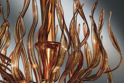 Exclusive Murano chandeliers for an out-of-this-world house